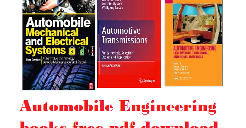 Automobile Engineering Books Free Download Engineering Exams