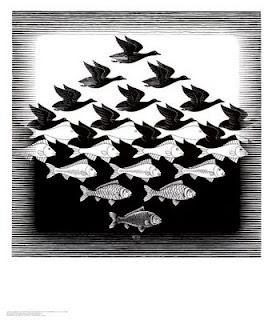 Havadaki turnaları su altına inildikçe balık gibi gösteren siyah beyaz tablo