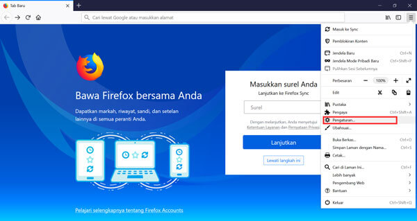 Menonaktifkan Update Mozilla Firefox