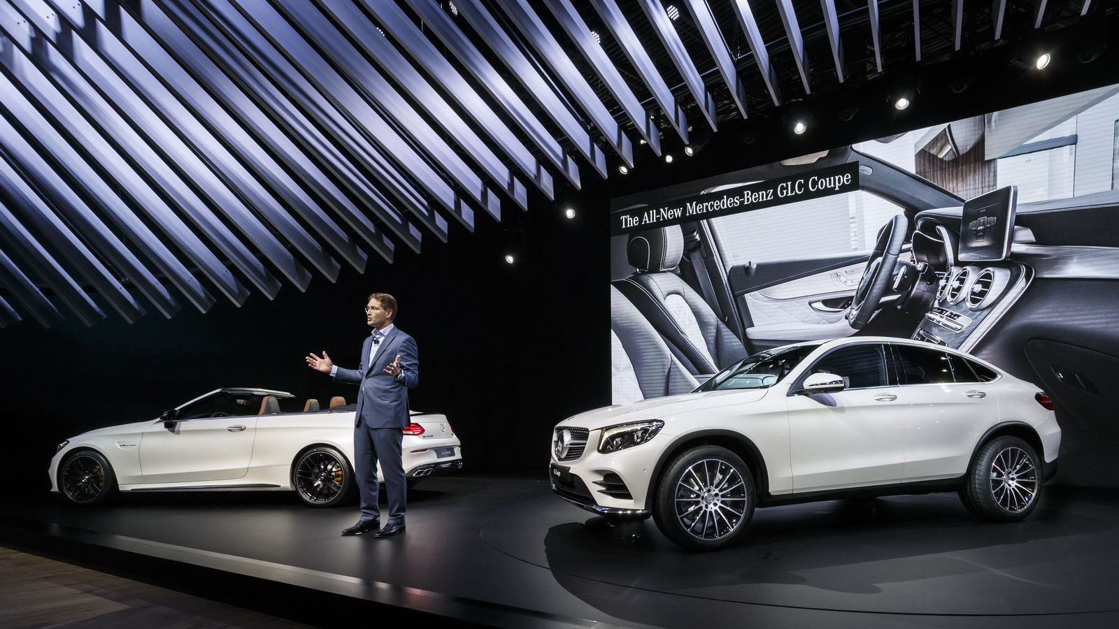 New Mercedes Glc Coupe Detailed Under Ny S Lights Carscoops