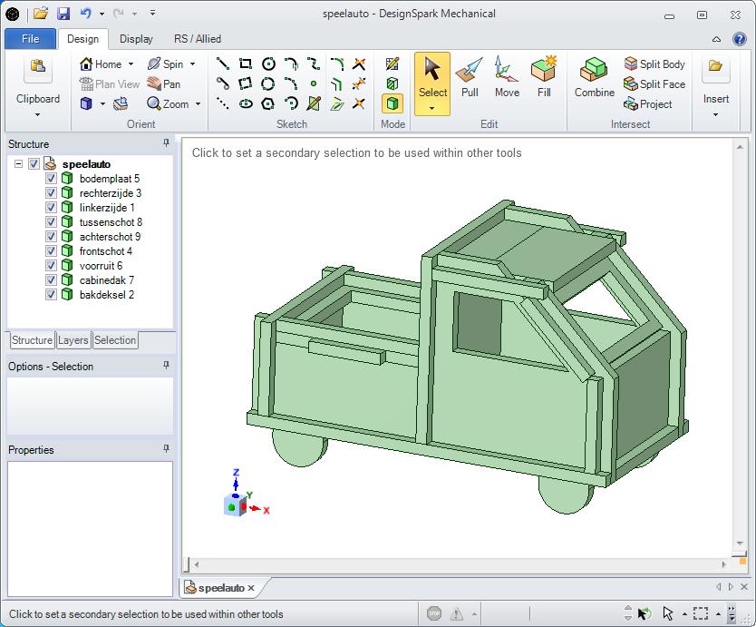 SDR with BladeRF: bladeRF-car designed with DesignSpark