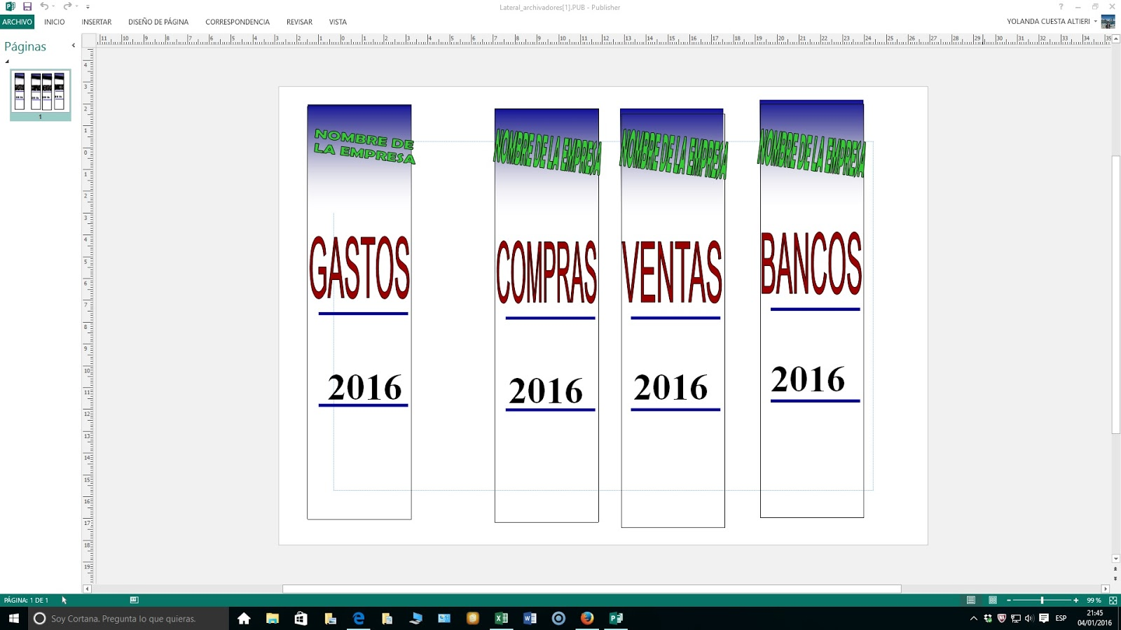 DIY Etiquetas ordenar documentos | Hojas Excel fácil: