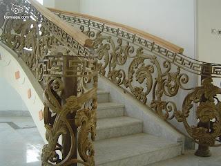 tangga besi tempa