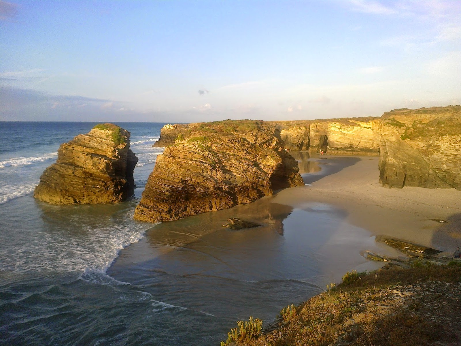 Playa de las Catedrales en Ribadeo en Galicia