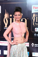 Akshara Haasan in Peachy Crop Top Choli Skirt at IIFA Utsavam Awards 38.JPG