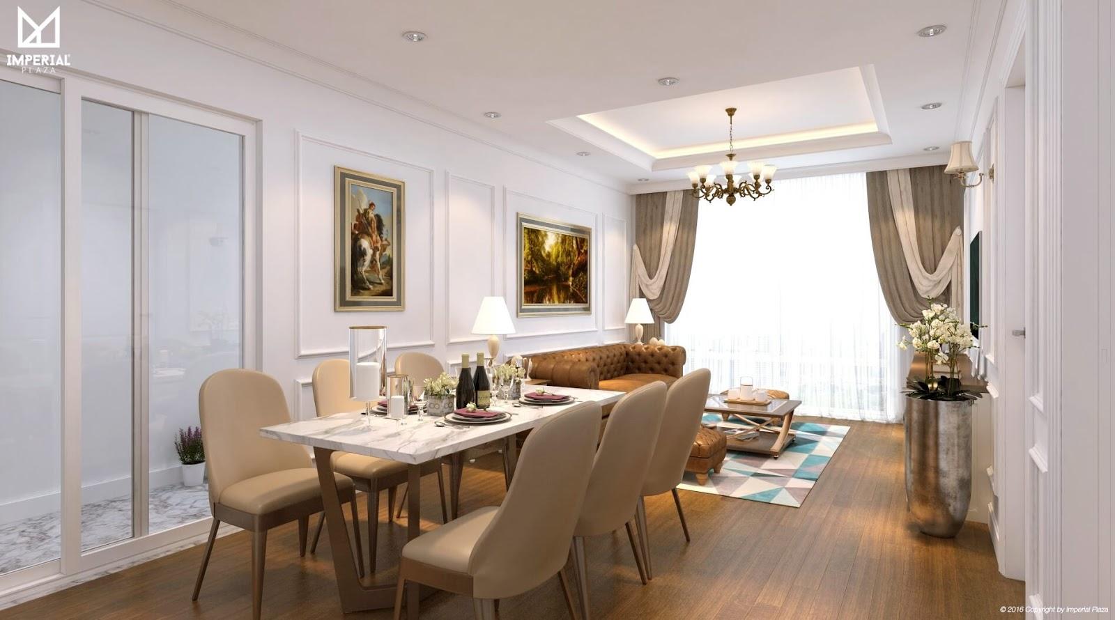 Hình ảnh căn hộ mẫu chung cư Imperial Plaza