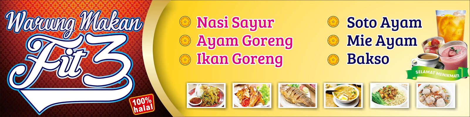 Download Banner Warung Makan Cdr Design Spanduk