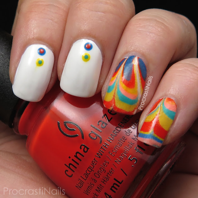 Water marble manicure with the China Glaze Road Trip Collection