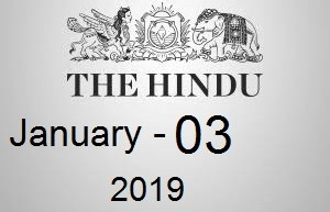 The Hindu Newspaper Today 3 January 2019 Download PDF