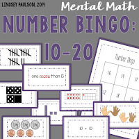 See more Kindergarten math resources at Lindsey Paulson's TpT page.
