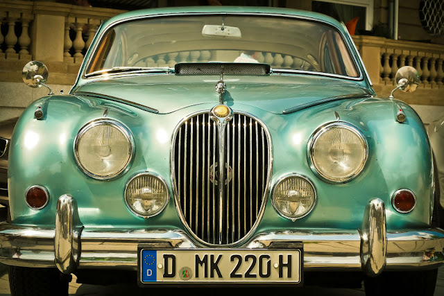 Jaguar MKII 1950s British classic saloon car