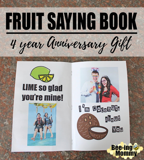 fruit saying anniversary book, fruit book, fruit sayings, free printable, printable book, printable gift, 4 year wedding anniversary gift, fruit anniversary, fruit gift, fruit gift ideas, unique fruit gift, food sayings, four year anniversary, four year anniversary gift, 4 year gift, unique 4 year gift, lime so glad your mine, coconuts about you, one in a melon, lime so glad you're mine, sweeter with you, mango can't live without you, you're a fine-apple, apple of my eye, bananas about you, love you berry much, couldn't of picked a better guy, fruit, anniversary book, DIY, scrapbook, anniversary scrapbook, wedding scrapbook, Valentine's day gift, anniversary gift, date gift, gift for her, gift for him, romantic gift, summer gift,