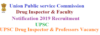 UPSC Drug Inspector Notification 2020 Recruitment Apply Online for upsconline.nic.in