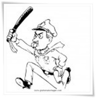 ausmalbilder zum ausdrucken: polizei ausmalbilder