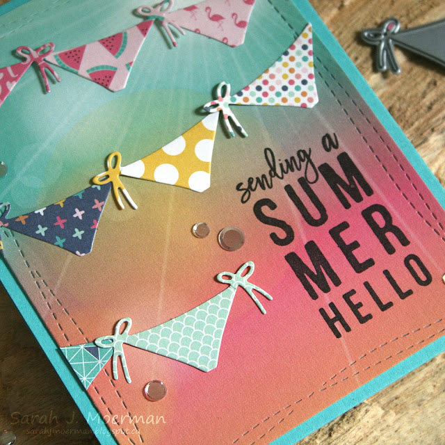 My Impressions: Simon Says Stamp July Card Kit: Summer Hello Banner Card