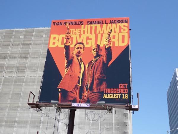 Hitmans Bodyguard movie billboard