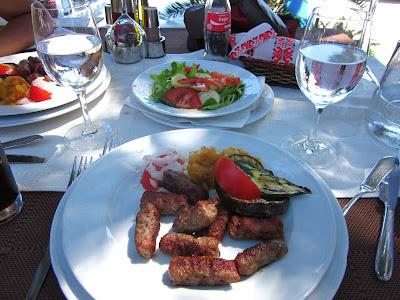 Cevapcici dish in Croatia
