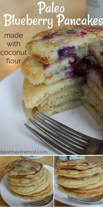 Paleo Blueberry Pancakes Recipe