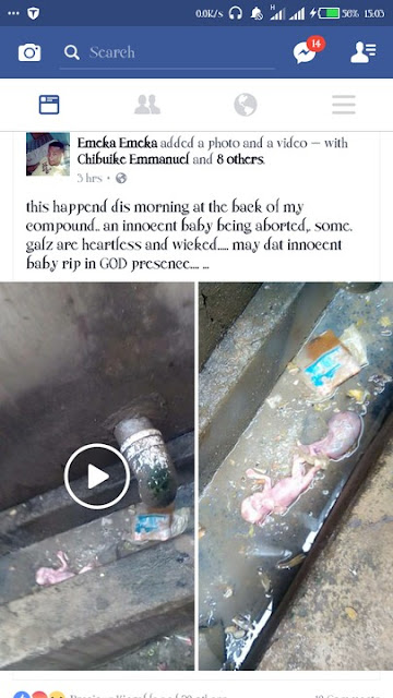 Aborted Baby Flushed In A Gutter In Enugu Female Hostel (Graphic Photos)