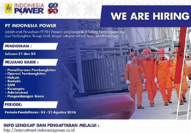 LOWONGAN KERJA INDONESIA POWER 2017