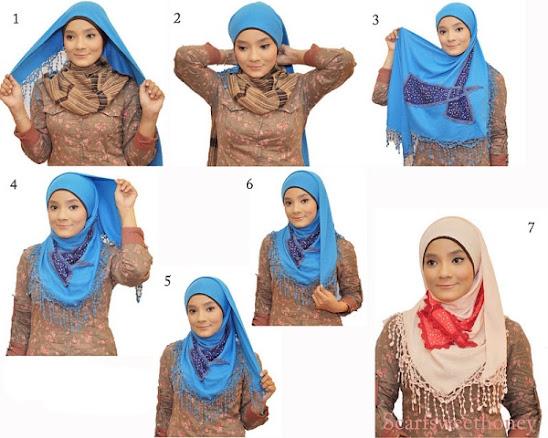 Cara memakai hijab 5