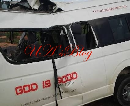 God is Good bus crashes, scores injured after driver allegedly slept off on steering