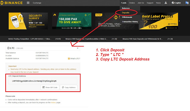 Get LTC Wallet address