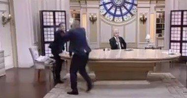 توابع معركة شوبير والطيب فى العاشرة مساء .. وابراهيم سعيد معلقا ازاى المخرج يطلع فاصل