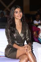 Pooja Hegde looks glamarous in deep neck sleevless short tight golden gown at Duvvada Jagannadham thank you meet function 111.JPG