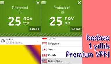 Bedava 1 yıl Premium VPN service