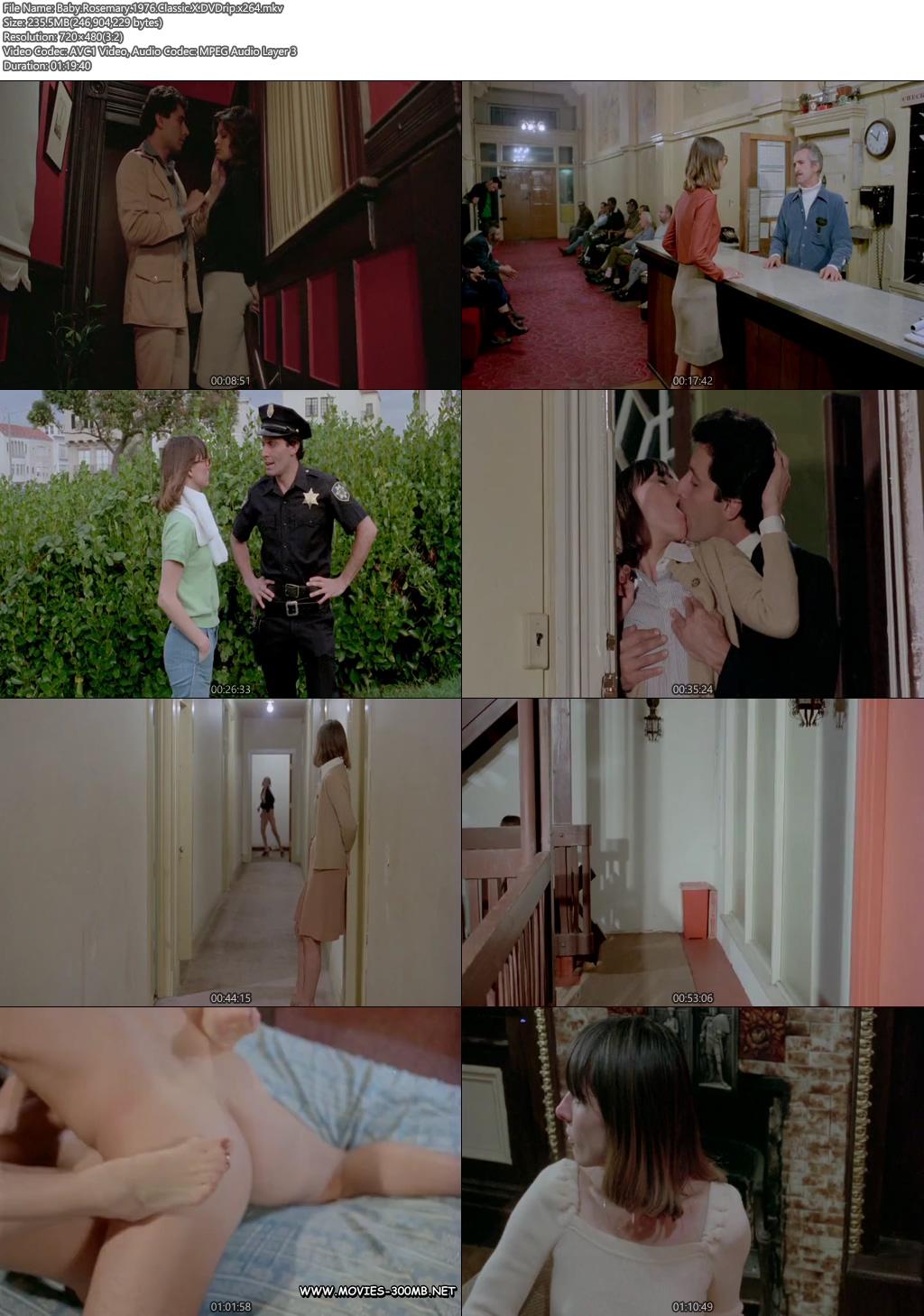 [18+] Baby Rosemary 1976 200MB Classic X DVDrip x264 Screenshot