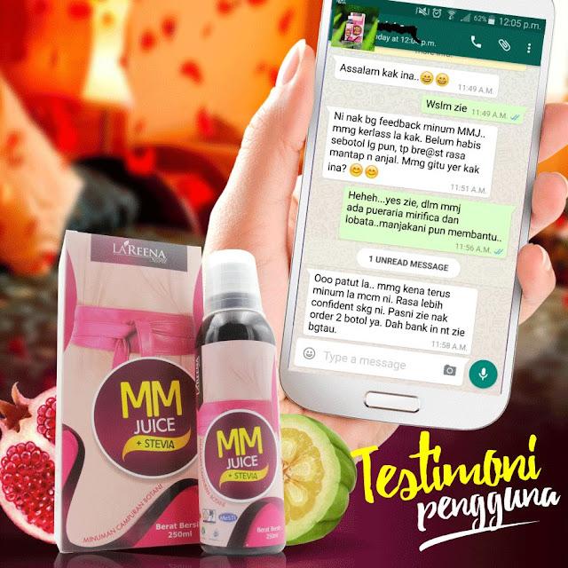 Testimoni Pengguna jus Mama Muda- MM Juice Stevia