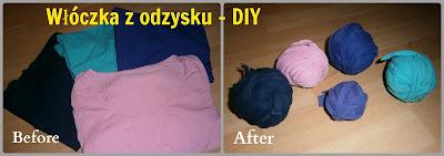 DIY: Włóczka z recyklingu - t-shirt yarn
