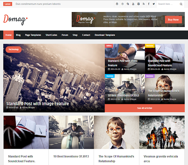 Domag Magazine Blogger Template