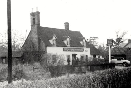 The Hope and Anchor - in the 1930s  Photograph by A. Matthews from the Images of North Mymms collection