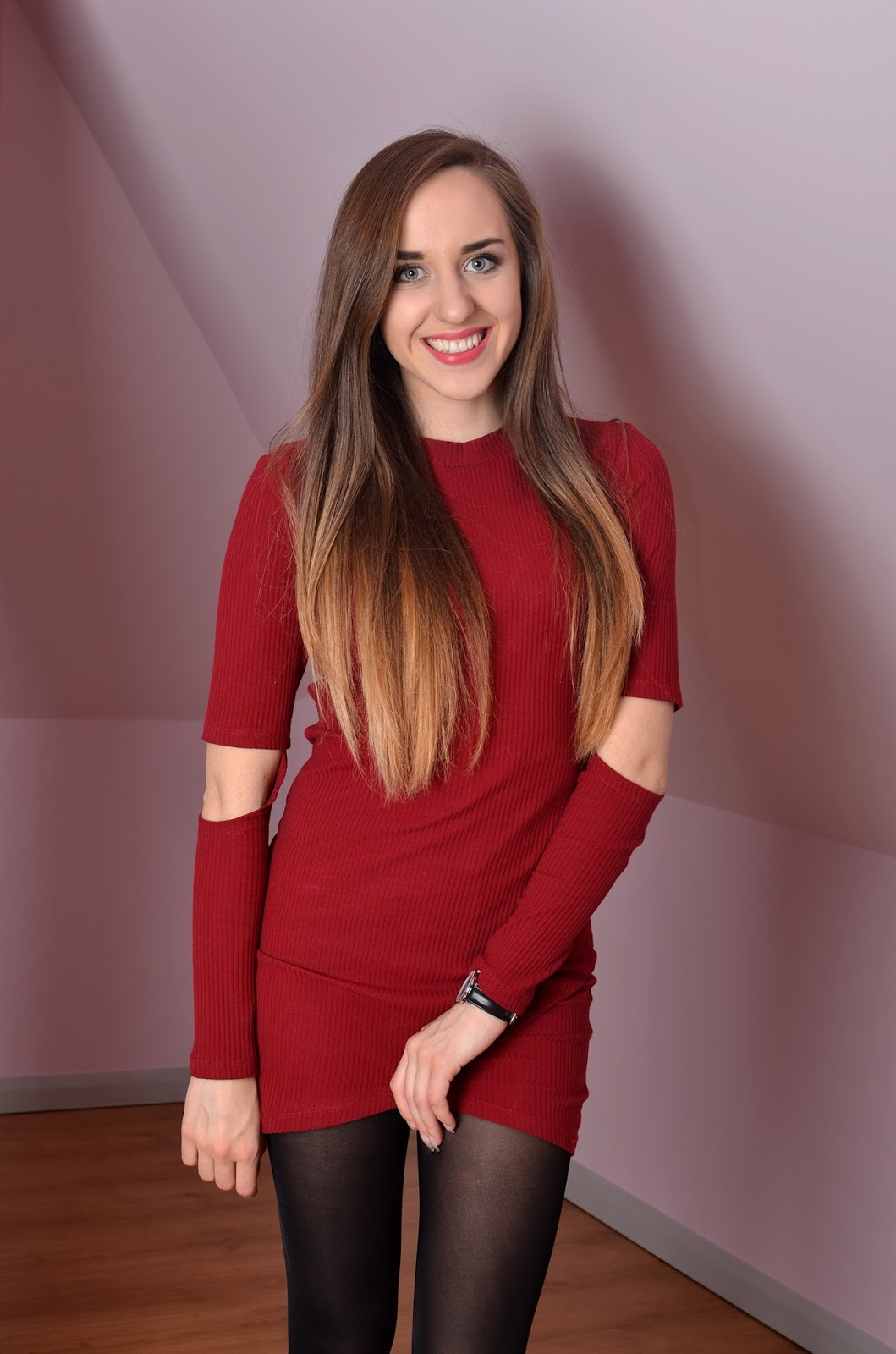 red dress | tights review
