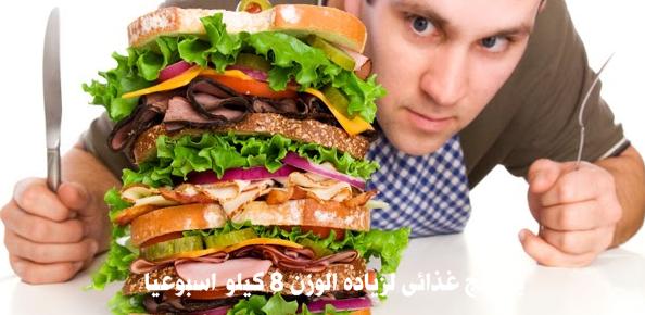 برنامج غذائى لزياده الوزن 8 كيلو اسبوعيا