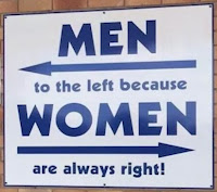 Men left Women right