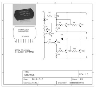 STK0105 Power Amplifier and IC Inside