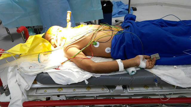 Patient survives neck attack after undergoing emergency surgery