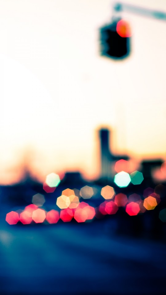 City Lights Bokeh   Galaxy Note HD Wallpaper