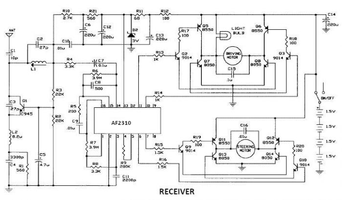 diagram ingram: Radio Controlled Motor Using AF2310