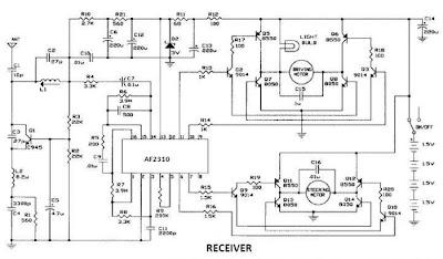 electro diagram: Radio Controlled Motor Using AF2310