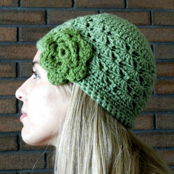 Elise Engh Studios Shell Stitch Crochet Hat Free Pattern