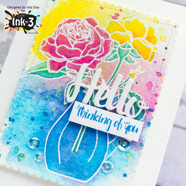Thinking Of You Card | Coloring With Distress Oxide Inks by ilovedoingallthingscrafty.com
