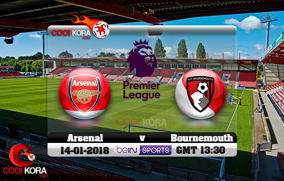 مشاهدة مباراة بورنموث وآرسنال اليوم 14-1-2018 في الدوري الإنجليزي