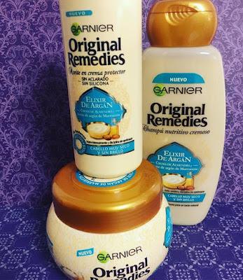 garnierl, original remedies, el poder de lo auténtico, champú exlicir de argan, mascarilla, aceite,