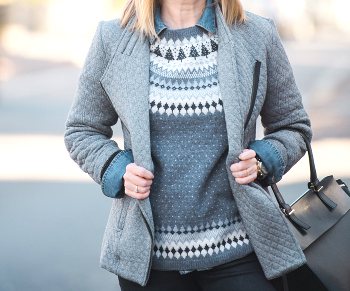 Garnet Hill fair isle sweater