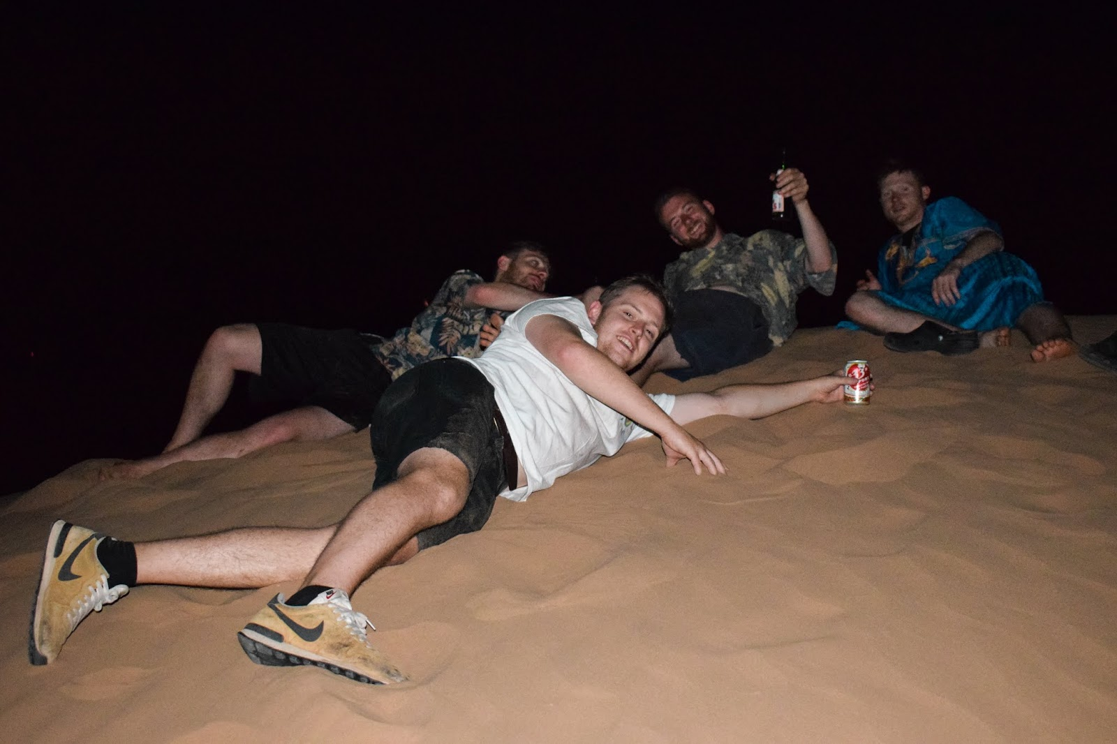 Chilling on sand dunes