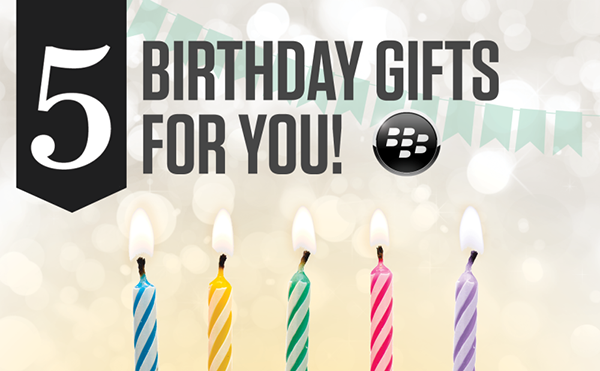 BlackBerry World celebrates 5th birthday with free apps and games